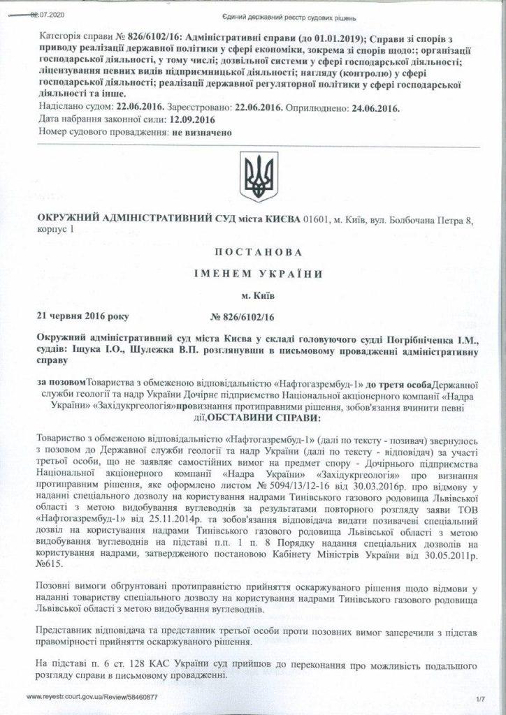 Офіційне спростування  щодо низки публікацій, які поширюють Інтернет-ЗМІ про надання ліцензії на розробку Тинівського родовища